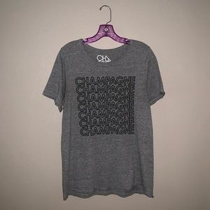 Marbled grey and white tee